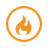 Flame Icon for Adult Foster Care Software